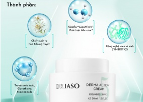 Dr.Iaso Derma Action Cream – Kem giúp làm trắng da, giảm nám